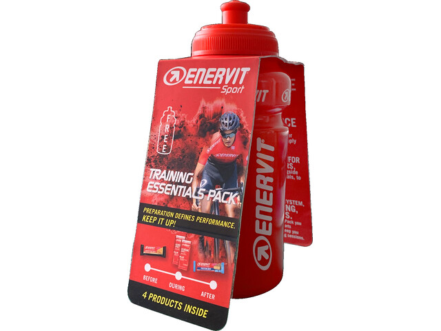 Enervit Training Pack con Bottiglia, Orange/Coco Chocolate